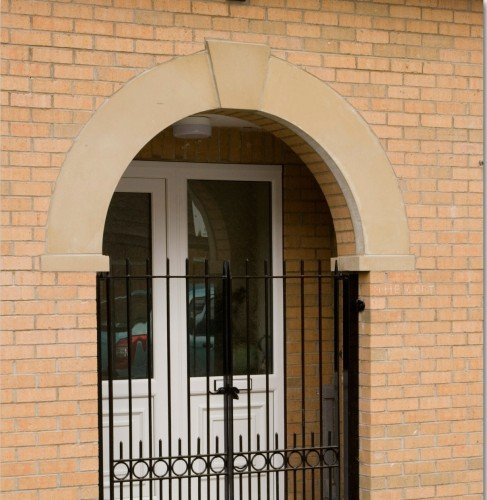 modern cast stone archway