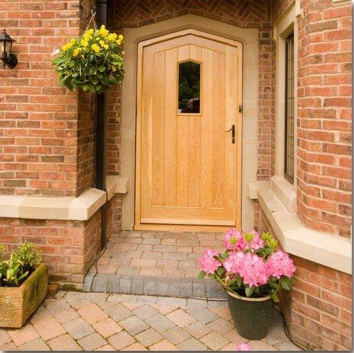 light cast stone door surround