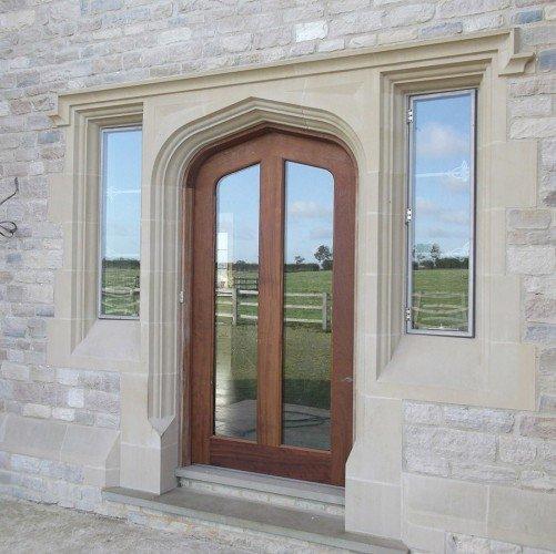 modern cast stone door surround