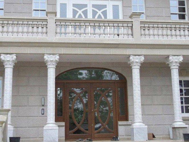 cast stone Balustrading portico