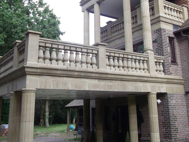 cast stone Flute column portico