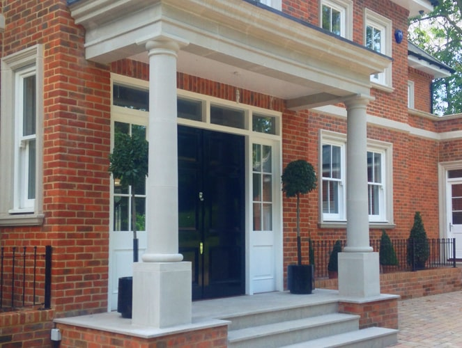 2 large house porticos