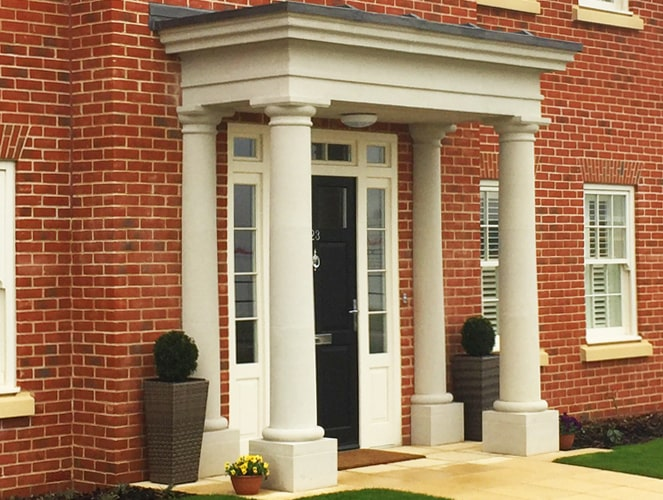 Renovated house portico