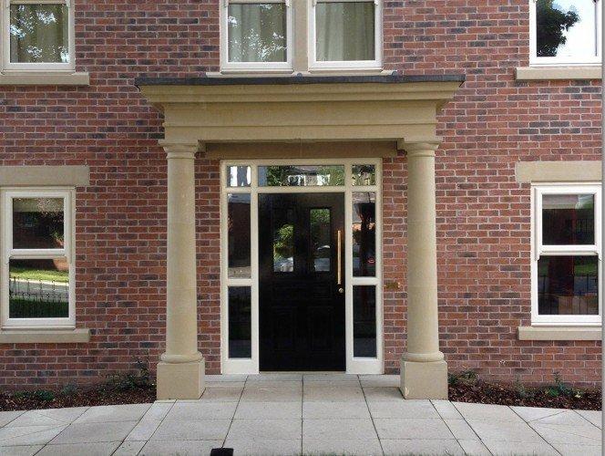 cast stone portico