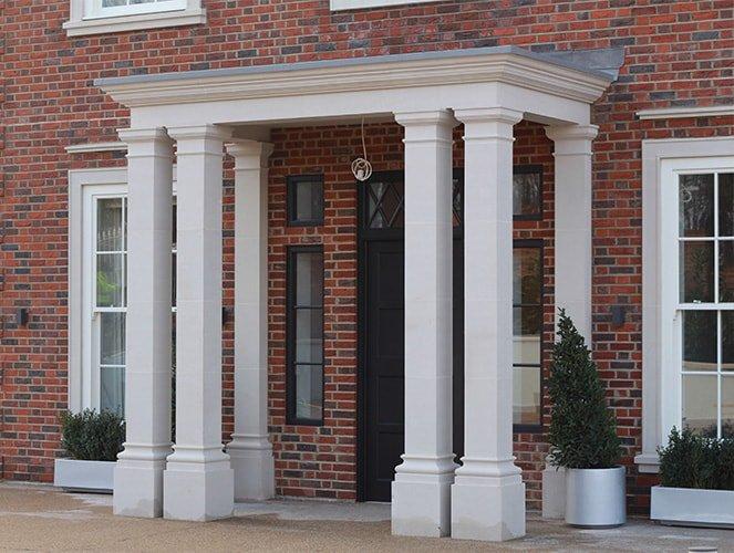 Four column porticos