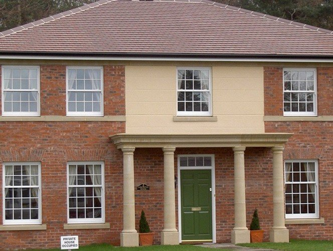 Renovated house porticos