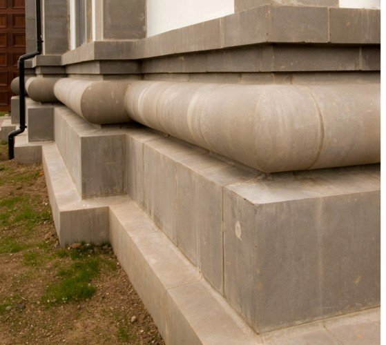 Corner Cast Stone Plinth