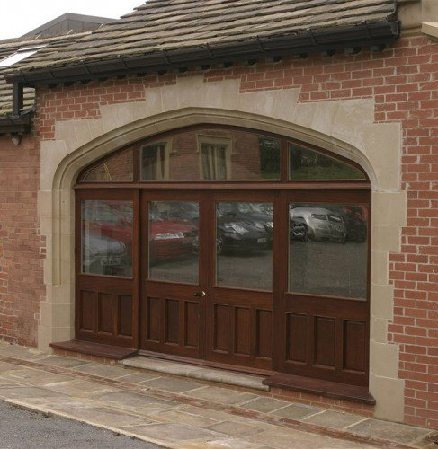large cast stone archway