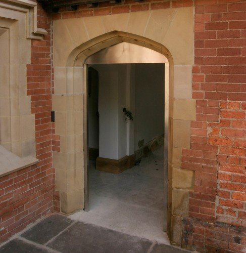 cast stone archway