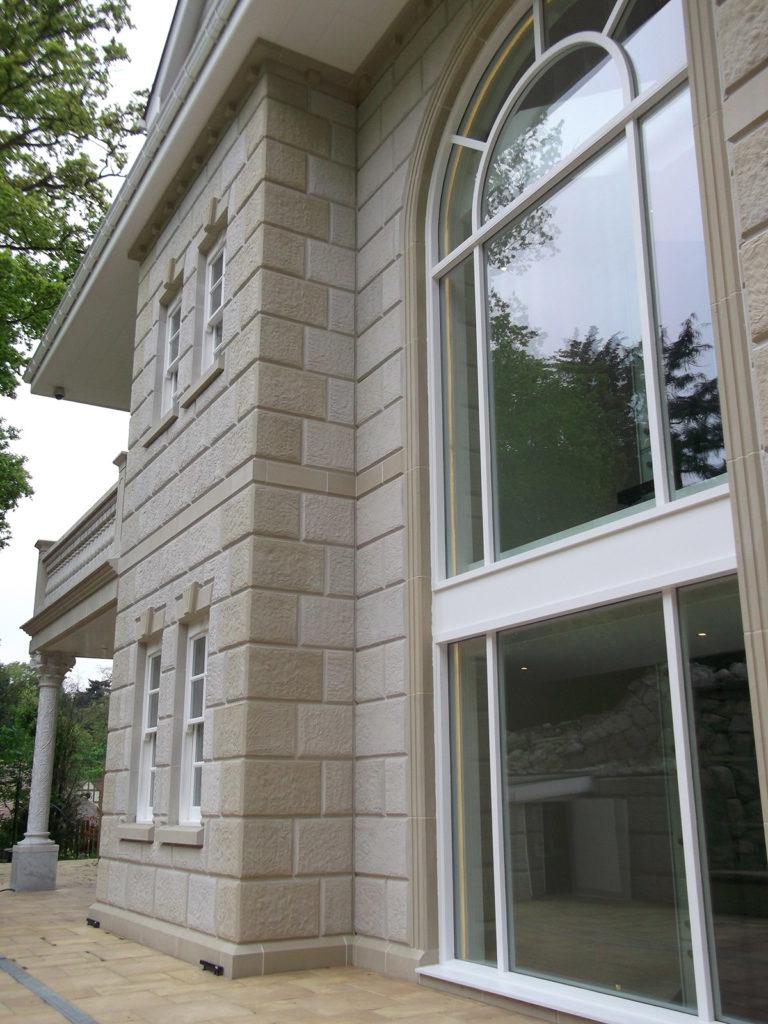 Arched Window Surround Bespoke Ashlar Walling Jpg