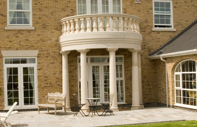 cast stone Balustrade doorway