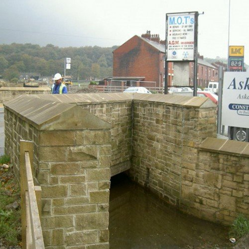Cast Stone Coping Flood Defence216