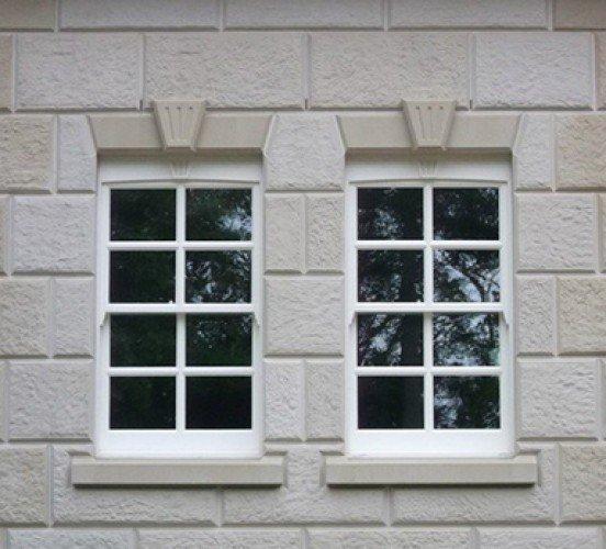 Stone Window Mullion Close Up