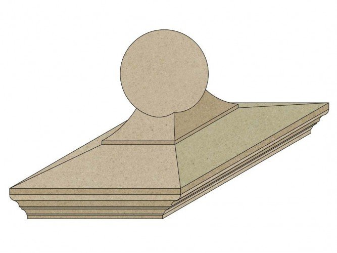cast stone sphere diagram